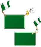 Nigeria Sport Message Frame with Flag. Stock Image