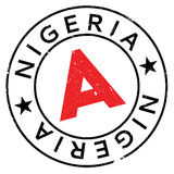 Nigeria-Stempelgummischmutz Lizenzfreie Stockfotografie