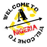 Nigeria-Stempelgummischmutz Stockfoto