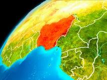Nigeria vom Raum stockbilder