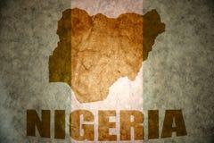 Nigeria-Weinlesekarte Lizenzfreies Stockbild