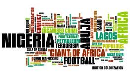 Nigeria words Stock Photography