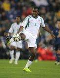 Nigeriaanse speler Fegor Ogude stock afbeelding