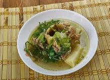 Nigerian bitter leaf soup Stock Image