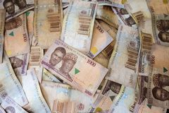 Nigerian Currency. Naira, banknotes from Nigeria Stock Photography