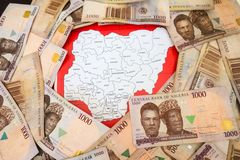 Nigerian Currency. Naira, banknotes from Nigeria Royalty Free Stock Image