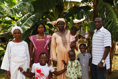 Nigerian family Royalty Free Stock Photos
