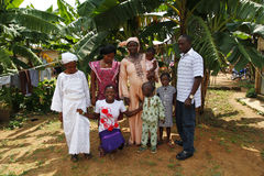 Nigerian family Royalty Free Stock Images