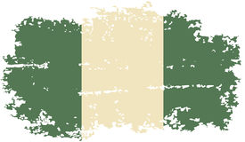 Nigerian grunge flag. Vector illustration. Stock Photography