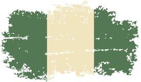 Nigerian grunge flag. Vector illustration. Stock Photography
