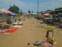 Nigerian Market Place. Central Market Kaduna Stock Image