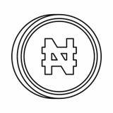 Nigerian naira sign icon, outline style Stock Photos