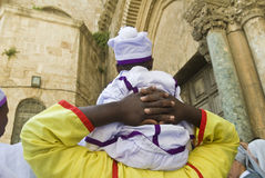 Nigerian pilgrims Stock Image