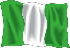 nigeriansk flagga Fotografering för Bildbyråer
