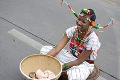 nigeriansk flicka Arkivfoto