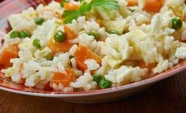 Nigerianskt ägg Fried Rice Arkivfoto