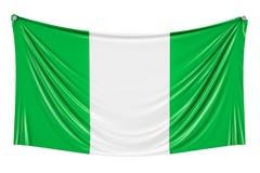 Nigeryjski chorągwiany obwieszenie na ścianie, 3D ilustracji