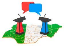 Nigeryjski debaty pojęcie, 3D rendering royalty ilustracja