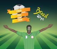 Nigeryjski fan piłki nożnej ilustracji