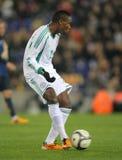 Nigeryjski gracz Godfrey Oboabona Zdjęcia Royalty Free