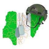 Nigeryjski si?? wojskowa, wojska lub wojny poj?cie, ?wiadczenia 3 d ilustracji