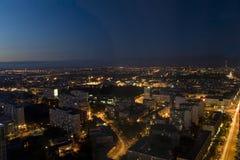nigh взгляд varsaw панорамы Стоковая Фотография RF