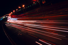 Nigh highway. royalty free stock photography