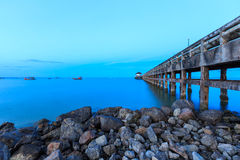 Nigh jetty chumphon Royalty Free Stock Images