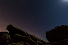 Nigh scene with rocks Stock Images