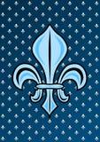 Medieval symbol fleur de lys Stock Photography