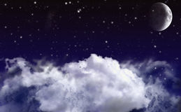 Nigh sky Background Royalty Free Stock Images