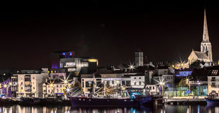 Nigh Sky Town. Night time on Wexford Town, Ireland Royalty Free Stock Image