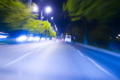 Nigh speed driving abstract Stock Image