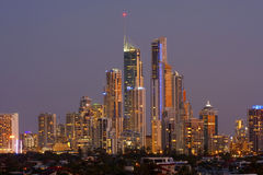 Nigh view of Gold Coast  Australia Royalty Free Stock Photos
