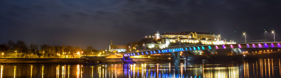 Nigh view of Petrovaradin fortress Stock Images