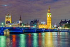 Nigh view of River Thames Stock Images