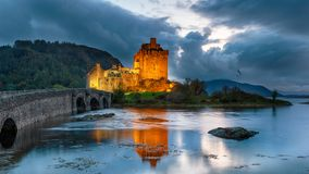Free Nighfall Over Eilean Donan Castle Royalty Free Stock Image - 161263066