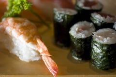Nighiri and maki. Sushi Royalty Free Stock Images