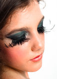Nighlife makeup on a young girl Stock Photo