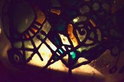 Nighlight de vidro pagão pintado à mão Imagens de Stock
