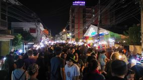 Night†‹in†‹Chiang†‹mai†‹Ταϊλάνδη Στοκ φωτογραφία με δικαίωμα ελεύθερης χρήσης