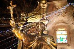 nightï ¼ ŒBeijingï ¼的ŒChina天主教教会 库存图片