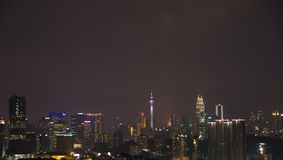 @night Куалаа-Лумпур стоковые фото