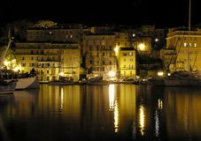 Night. An old town at night Royalty Free Stock Images