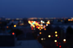 Night. City scene at night with blur light Royalty Free Stock Image