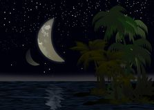 Night above the Pacific Ocean Royalty Free Stock Photos