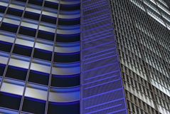 Night abstract architecture Stock Photo