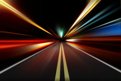 Night acceleration speed motion Royalty Free Stock Photography