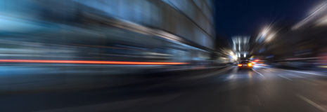Night acceleration speed motion Stock Photos