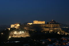 Night Acropolis Royalty Free Stock Images